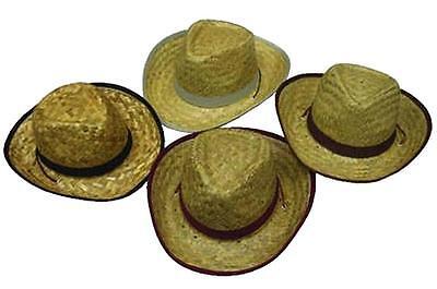 12 KIDS STRAW ZIG ZAG COWBOY HATS childrens #116 bulk wholesale western hats NEW (Children's Cowboy Hats Bulk)