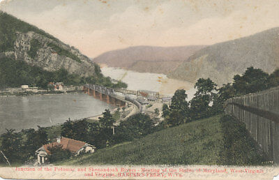 Harpers Ferry Wv   Junction Of Potomac And Shenandoah Rivers  Ca 1908
