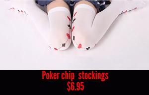 Poker chip stockings brand new in original packaging Woodridge Logan Area Preview