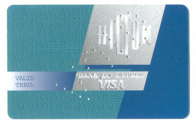 CYPRUS - BANK OF CYPRUS - HILTON VISA - TDLR  CREDIT CARD SPECIMEN 1995