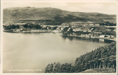 Skye Portree The Harbour  real photo valentines