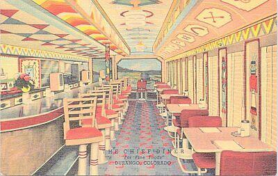 Linen Advertising The Chief Diner Roadside Restaurant Durango Colorado 1940s