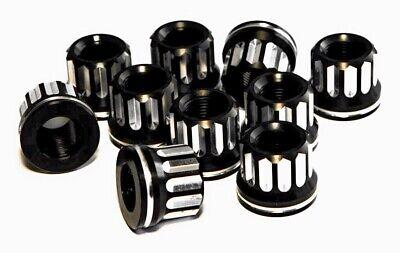 5/8-18 Billet Lug Nuts, 7075 T6 Anodized Black Aluminum, 10pk  ()
