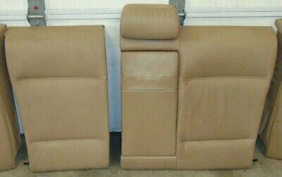 REAR SEAT SPLIT FOLDING BACKREST LEATHER BEIGE SEDAN COUPE BMW E46 325 330 02+
