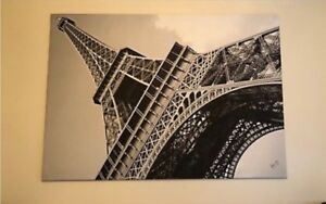 Ginormous Eiffel Tower Paris poster on canvas