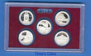 2010-Silver-Quarter-Proof-Set-5-Coins-No-Box-COA