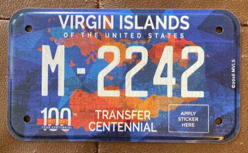 Virgin Islands 2017 MOTORCYCLE CENTENNIAL License Plate HIGH QUALITY # M-2242