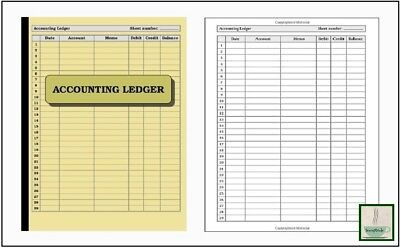 3 Column Account Ledger 120 pg Book Journal Record Keeping Home Office