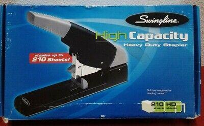 Swingline High Capacity Heavy Duty Stapler 210 Sheet Capacity Black Grey