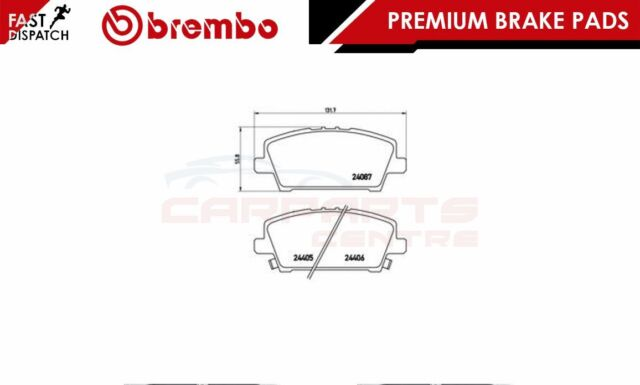 BREMBO GENUINE ORIGINAL PREMIUM BRAKE PADS PAD SET FRONT AXLE P28037