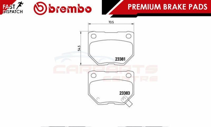 BREMBO GENUINE ORIGINAL PREMIUM BRAKE PADS PAD SET REAR AXLE P78016