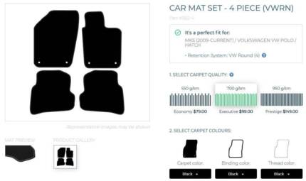 VW Polo car mats - unused from FitMyCar
