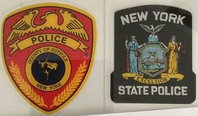 Appreciation Sale NY Suffolk County Police+NY State Police InW/shield Decals*(O)