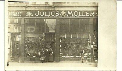 Julius Müller Königl. Sächs. Hoflieferant Leipzig Petersstr.? Originalfoto 14x9