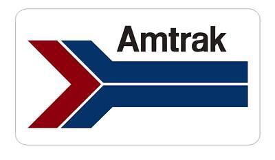 Amtrak Sticker Decal R7010 Railway Railroad Train Sign YOU CHOOSE SIZE (Train Stickers)