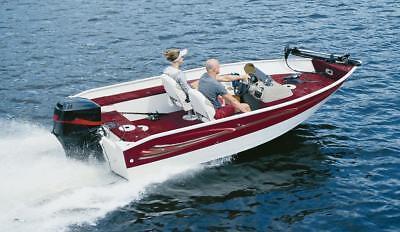 """Aluminum V-Hull Fishing Boat Trailerable Cover 15'5""""-16'4"""" 75"""" Beam Motor Hood"""