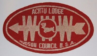 Achtu Lodge 37 X3 OA Felt patch Hudson Council New Jersey worn