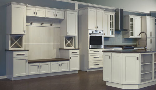Dover White Shaker Collection JSI 10x10 kitchen cabinets, Kitchen Furniture
