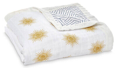 Aden & Anais Silky Soft Dream Muslin Baby Blanket Golden Sun