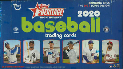 2020 Topps HERITAGE HIGH NUMBER Baseball HOBBY Box Sealed - FREE PRIORITY SHIP
