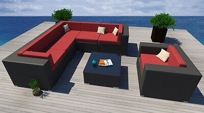 7PC All Weather Patio Set Modern Outdoor ...