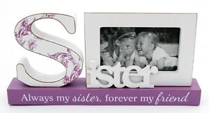 Sister word photo frame birthday gift idea