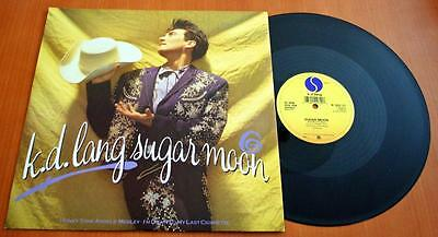 "K D Lang - Sugar Moon - 1988 Promo Stickered UK 12"" Single"