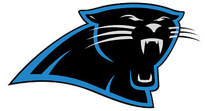 Carolina Panthers Sticker Decal indoor - outdoor - car-  truck - window 6.5 x - Panthers Decal