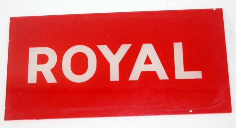 Vintage Conoco ROYAL Service Station Gas Pump Glass Sign