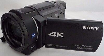 Sony FDR-AX33 4K HD Video Recording Handycam Camcorder Black