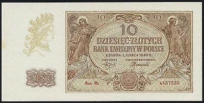 Ro.574b Besetzung Polen 10 Zlotych 1940 (1/1-)