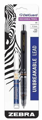 Zebra Pen Delguard Mechanical Pencil - 0.5 Mm - Black Barrel - Bonus Refill