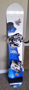 150cm Ride Catalyst Snowboard with bindings