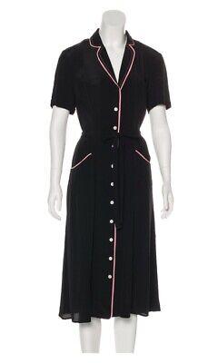 HVN BLACK Midi Shirt Dress Size: M | US 6
