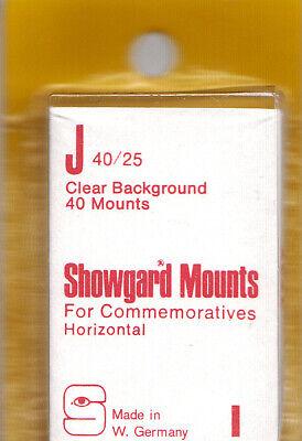 SHOWGARD J 40/25 (40) CLEAR MOUNTS RETAIL PRICE $3.95