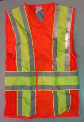 Reflective Construction Safety Vest Class 2 Size Small - Free Shipping
