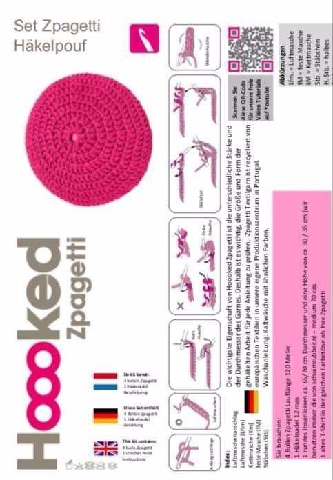 купить Textilgarn Xl Sparset Häkeln Stricken Pouf Teppich Wie