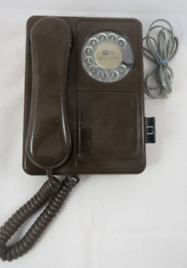 Brown Doodle Rotary Dial Telephone Northern Telecom