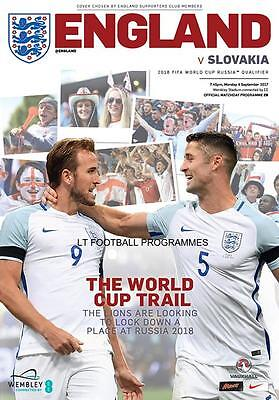 * ENGLAND v SLOVAKIA (4th September 2017 - WORLD CUP QUALIFIER AT WEMBLEY) *