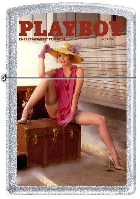 Zippo Playboy June 1984 Cover Satin Chrome Windproof Lighter NEW RARE