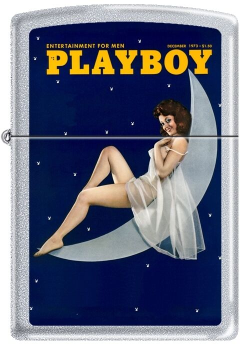 Zippo Playboy December 1973 Cover Satin Chrome Windproof Lighter NEW RARE