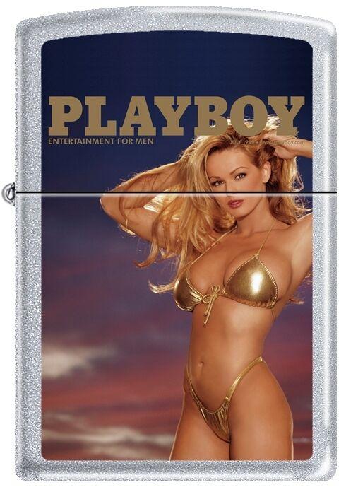 Zippo Playboy July 1999 Cover Satin Chrome Windproof Lighter NEW RARE