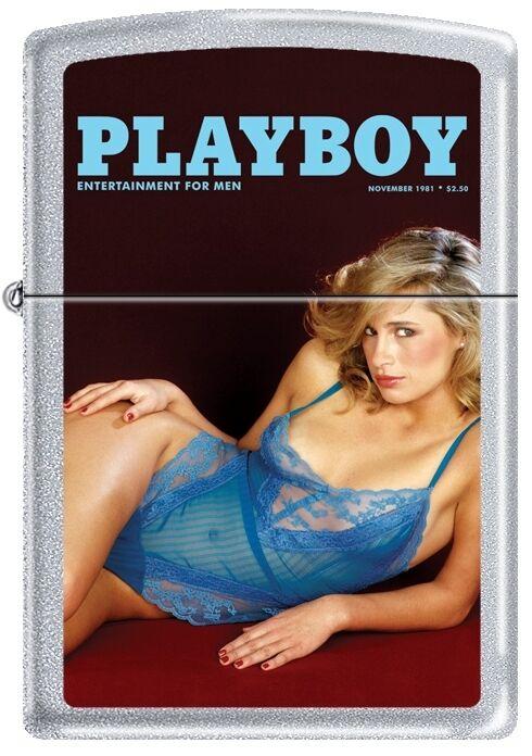 Zippo Playboy November 1981 Cover Satin Chrome Windproof Lighter NEW RARE
