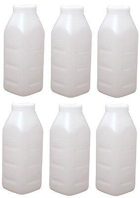 6 Ea Advance 980 2 Quart Screw Top Replacement Calf Livestock Feeding Bottles