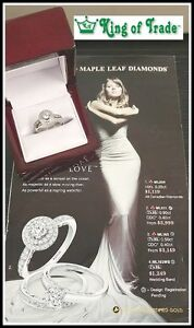 18k White Gold Ladies Diamond Halo Ring - King of Trade