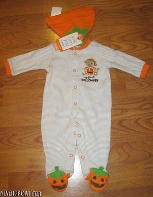CARTER'S MY 1ST HALLOWEEN MONKEY OUTFIT~COSTUME~NEWBORN~0-3MO~NWT