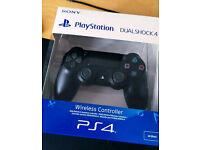 PS4 Dual Shock 4 Contoller (v2), Jet Black - Brand New