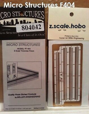 Miller Eng Micro-Structures Z F404 Gothic Fence Fencing Kit *NEW *USA DEALER