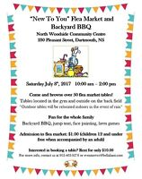 """New To You"" Flea Market and Backyard BBQ **BOOK YOUR TABLE NOW!"