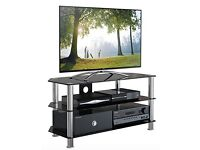 120 cm Glass TV Stand for 32-70-Inch Television - Black